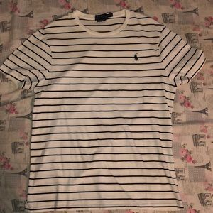 Black and white stripe shirt by Ralph Lauren